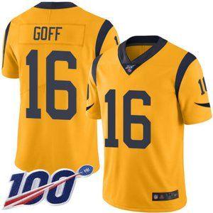 Rams Jared Goff 100th Season Jersey 4